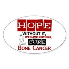 HOPE Bone Cancer 2 Oval Decal