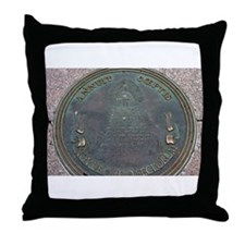 Reverse Great Seal Of The US Throw Pillow