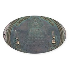 Reverse Great Seal Of The US Oval Decal