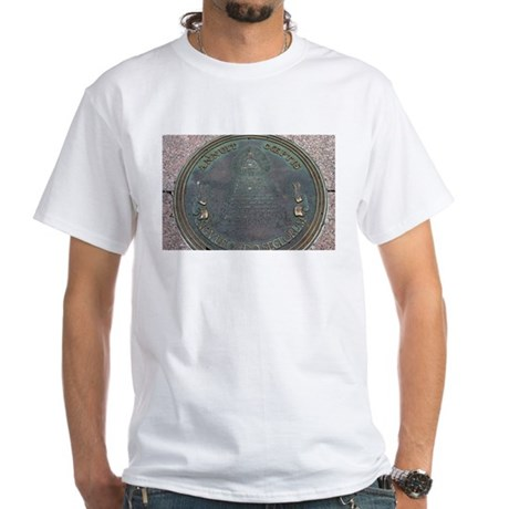 Reverse Great Seal Of The US White T-Shirt