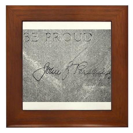 Be Proud - General Pershing Framed Tile