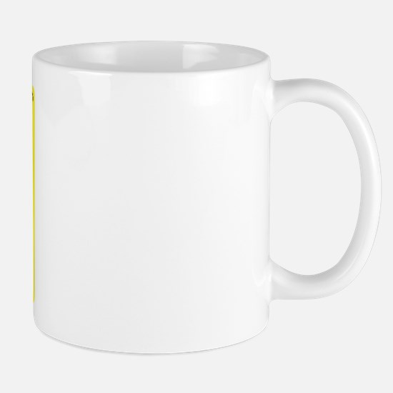 Caffeine Warning Midwife on Front of Mug