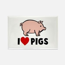 I heart pigs Rectangle Magnet