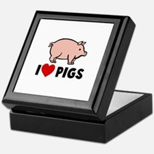 I heart pigs Keepsake Box