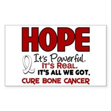 HOPE Bone Cancer 1 Rectangle Decal