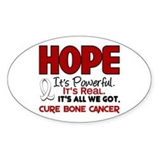 HOPE Bone Cancer 1 Oval Decal