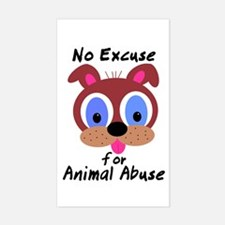 No Excuse Rectangle Decal