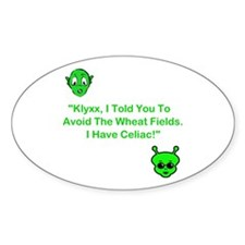 Klyxx, Avoid The Wheat! Oval Decal