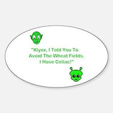 Klyxx, Avoid The Wheat! Oval Decal