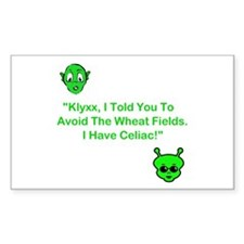 Klyxx, Avoid The Wheat! Rectangle Decal