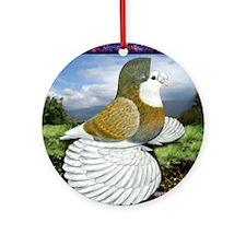 Baldmark Trumpeter Pigeon Ornament (Round)