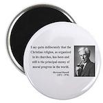 "Bertrand Russell 12 2.25"" Magnet (10 pack)"