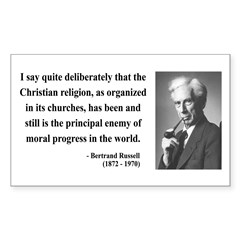 Bertrand Russell 12 Rectangle Decal