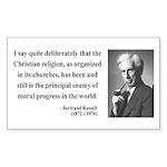 Bertrand Russell 12 Rectangle Sticker