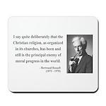 Bertrand Russell 12 Mousepad