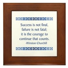 Churchill Framed Tile