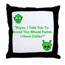 Klyxx, Avoid The Wheat! Throw Pillow