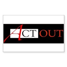 Act Out Rectangle Decal