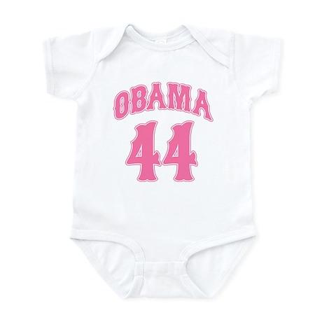 Obama pink 44 Infant Bodysuit