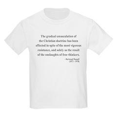 Bertrand Russell 17 Kids Light T-Shirt