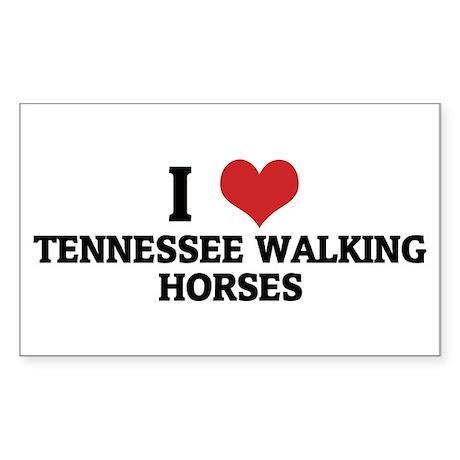 I Love Tennessee Walking Hors Sticker (Rectangular