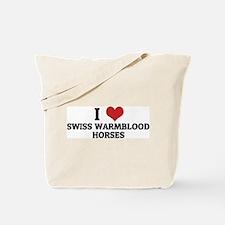 I Love Swiss Warmblood  Horse Tote Bag