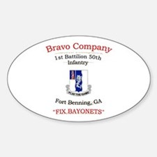 B co 1/50 inf Oval Decal