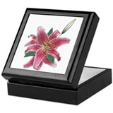 Pink lily Keepsake Boxes