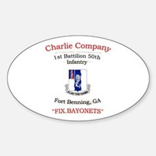 C co 1/50 inf Oval Decal