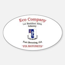 E co 1/50 inf Oval Decal