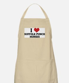 I Love Suffolk Punch Horses BBQ Apron