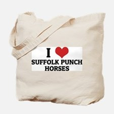 I Love Suffolk Punch Horses Tote Bag
