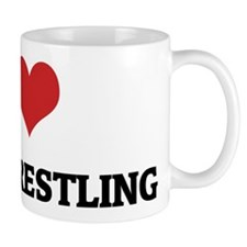 I Love Steer Wrestling Mug