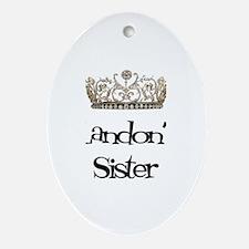 Landon's Sister Oval Ornament