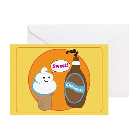 Ice Cream & Chocolate Greeting Cards (Pk of 10)