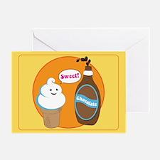 Ice Cream & Chocolate Greeting Card