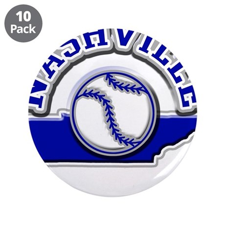 "Nashville Baseball 3.5"" Button (10 pack)"
