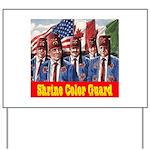 Shriner Color Guard Yard Sign