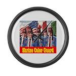 Shriner Color Guard Large Wall Clock