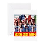 Shriner Color Guard Greeting Card