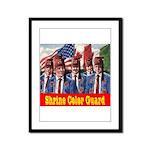 Shriner Color Guard Framed Panel Print