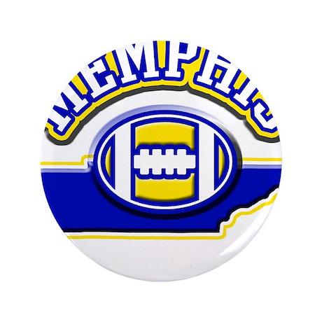 """Memphis Football 3.5"""" Button"""