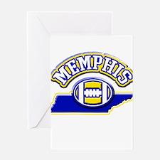 Memphis Football Greeting Card