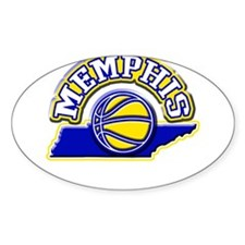 Memphis Basketball Oval Decal