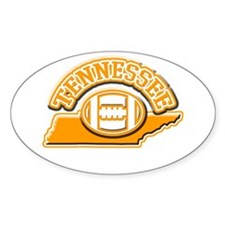 Tennessee Football Oval Bumper Stickers