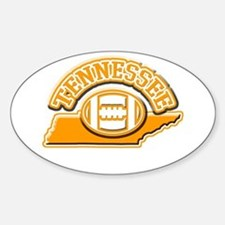 Tennessee Football Oval Decal