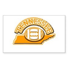 Tennessee Football Rectangle Bumper Stickers