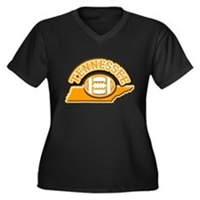 Tennessee Football Women's Plus Size V-Neck Dark T