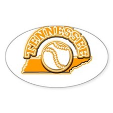 Tennessee Baseball Oval Decal