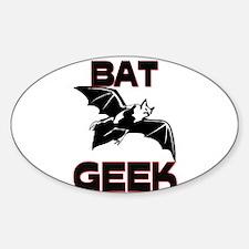 Bat Geek Oval Decal